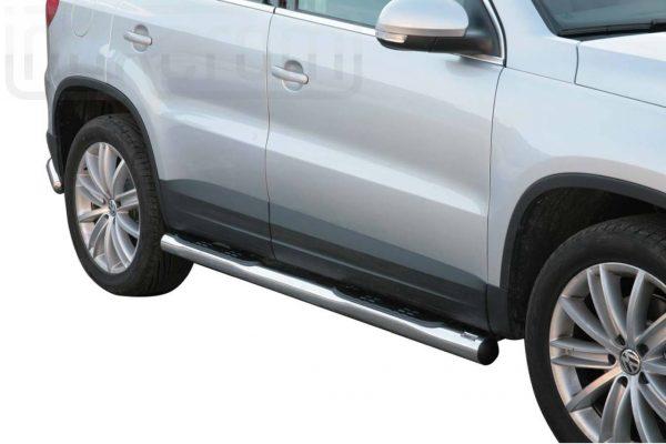 Volkswagen Tiguan 2008 2011 - Csőküszöb, műanyag betéttel - mt-178