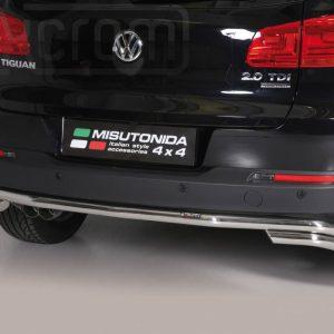 Volkswagen Tiguan 2011 2015 - Hajlított hátsó lökhárító - mt-110