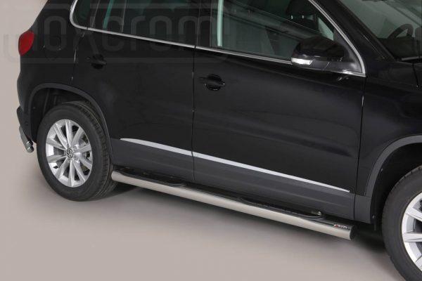 Volkswagen Tiguan 2011 2015 - Csőküszöb, műanyag betéttel - mt-178