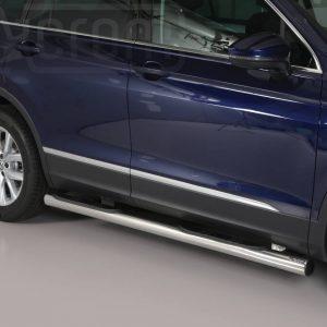 Volkswagen Tiguan 2016 - Csőküszöb, műanyag betéttel - mt-178